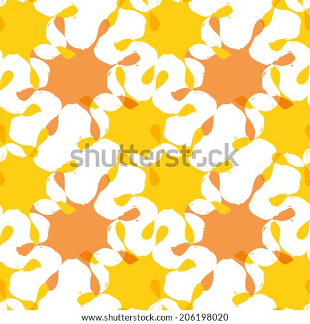 Bright abstract seamless pattern with blots. Vector eps 10. - stock vector