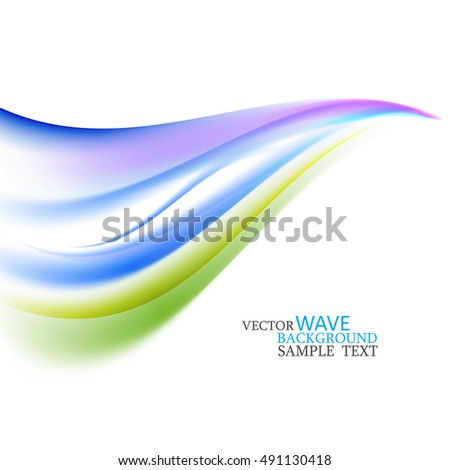 Bright abstract waves on a white background
