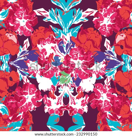 Bright and fashionable Floral Pattern. - stock vector
