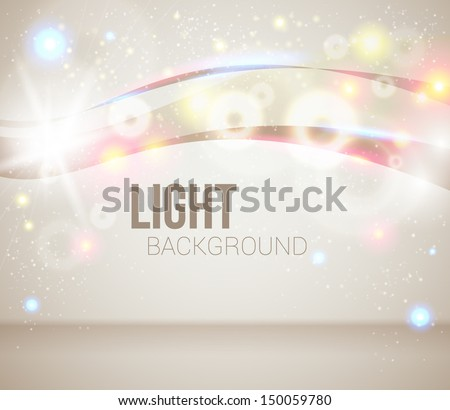 Bright and sparkling background for your presentation. Abstract background with glitter. Vector image.  - stock vector