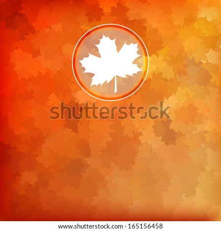 Bright autumn background with space for text. And also includes EPS 10 vector - stock vector