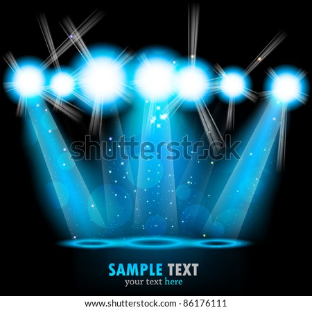 Bright background - stock vector