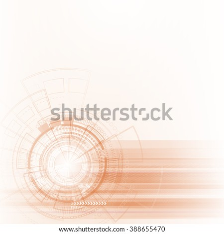 Bright background Concept technology. Vector.