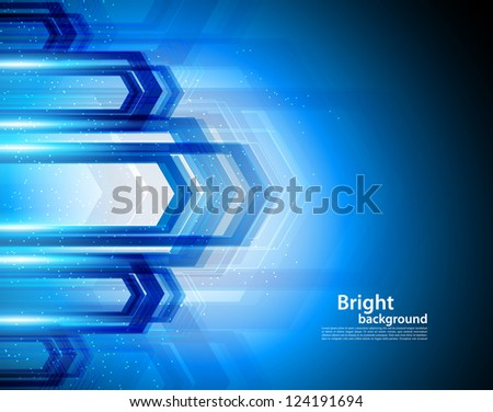 Bright background in blue color. Abstract illustration - stock vector