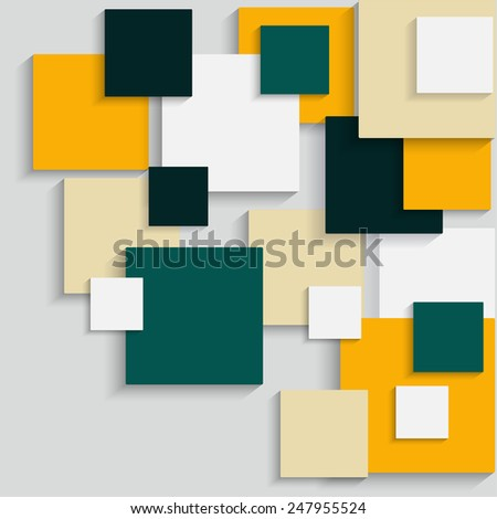 Bright background of squares for design - stock vector