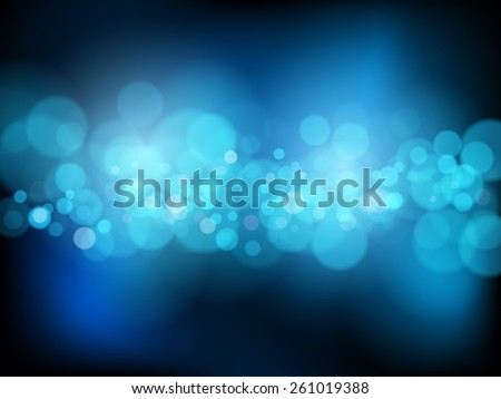Bright background with bokeh effect - stock vector