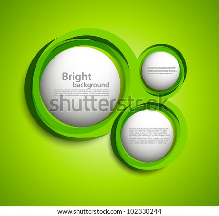 Bright background with circles in green color.  FOOTAGE with this circles: http://footage.shutterstock.com/clip-2253613-stock-footage-green-circles.html - stock vector