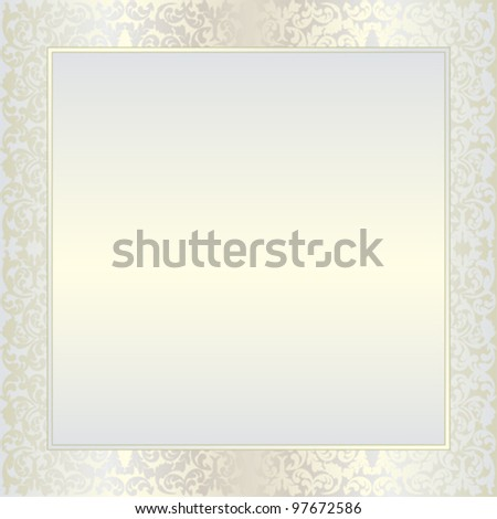 bright background with  floral ornaments and copy space