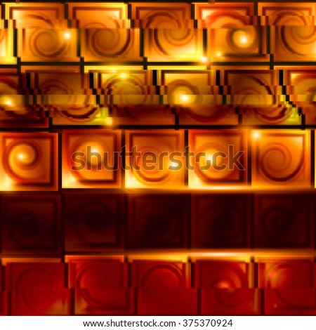 Bright background with light effects in style glitch- art. Vector illustration.