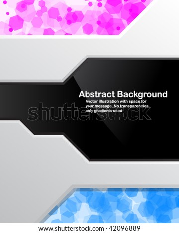 Bright background with random transparent cells. Vector illustration. - stock vector