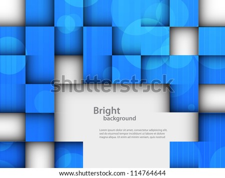 Bright background with squares - stock vector