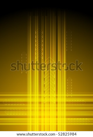 Bright background with strips and arrows - eps 10 - stock vector