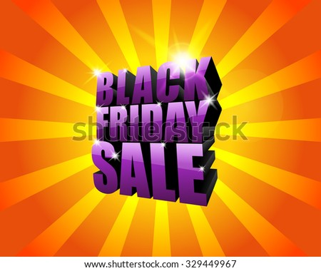 Bright black friday sale 3d text