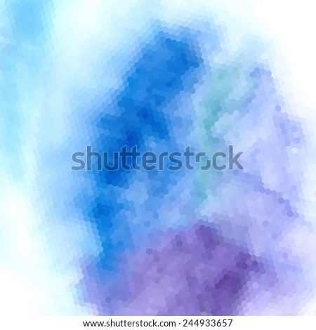 bright blue abstract pattern of polygons
