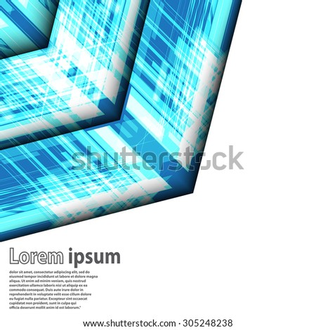 Bright blue arrow abstract business modern background futuristic line layout. Vector illustration - stock vector
