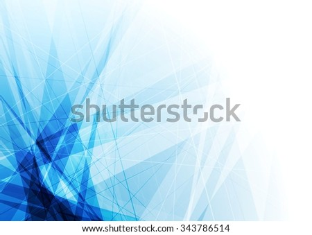 Bright blue geometric shapes tech background. Vector design - stock vector
