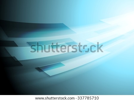 Bright blue hi-tech motion background. Vector image design - stock vector