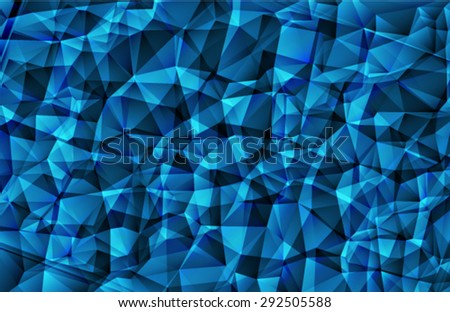 Bright blue  polygon abstract background. Vector EPS 10 illustration. - stock vector