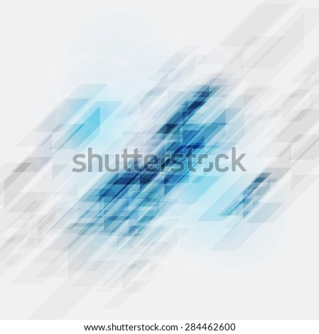Bright blue shiny tech background. Vector design - stock vector