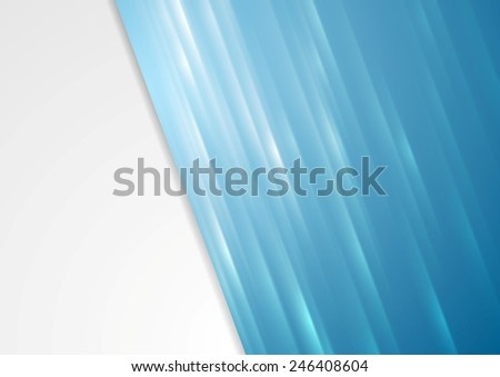 Bright blue stripes abstract background. Vector design - stock vector