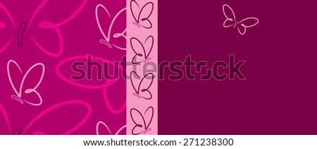 Bright Butterfly banner in vector format. - stock vector