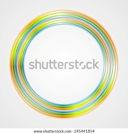 Bright circle logo background. Vector design - stock vector