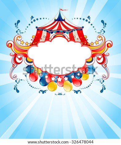 Bright circus background  for design card, banner, leaflet and so on. - stock vector
