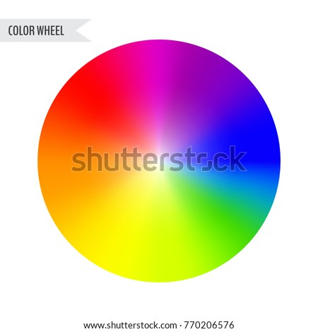 Bright Color Wheel Chart Isolated On White Background Vector Illustration For Your Graphic Design