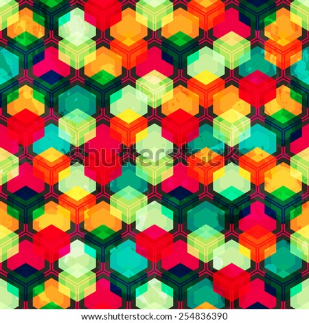 bright colored grid seamless pattern  - stock vector