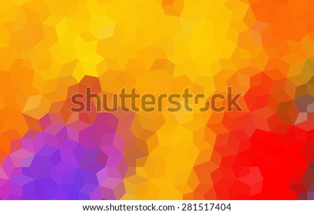 Bright Colored Mosaic Abstract Background for your design - stock vector