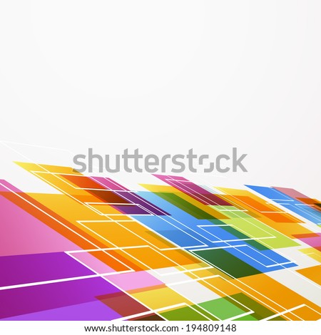 Bright colorful abstract tile background. Vector illustration - stock vector