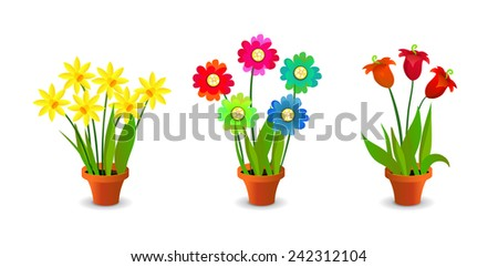 Bright, Colorful Flowers Clip Art