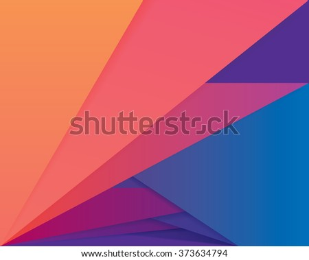 Bright colorful material design style color palette pattern wallpaper - stock vector