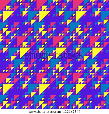 Bright colorful triangles pattern - stock vector