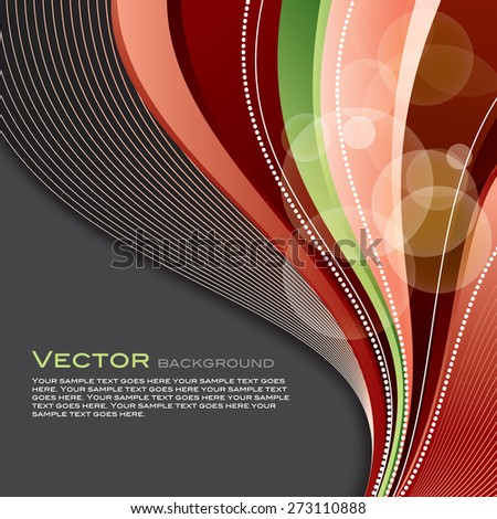Bright Colorful Vector Background with Red Design Elements. - stock vector