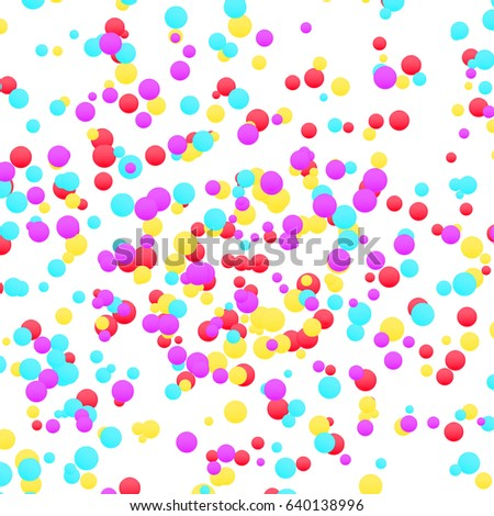 Bright Colorful Yellow Red Blue Confetti Stock Photo (Photo, Vector ...