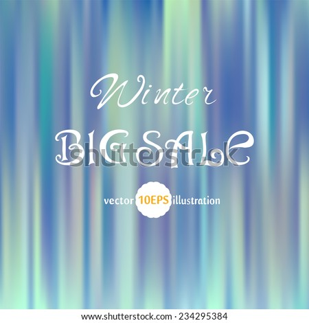 Bright colors Abstract Background. Blue Vintage style background vector. Winter Sale. Abstract artistic Background for your design with space for text. Vector 10 EPS - stock vector