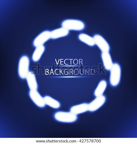 Bright colors shining neon circle lights.  - stock vector