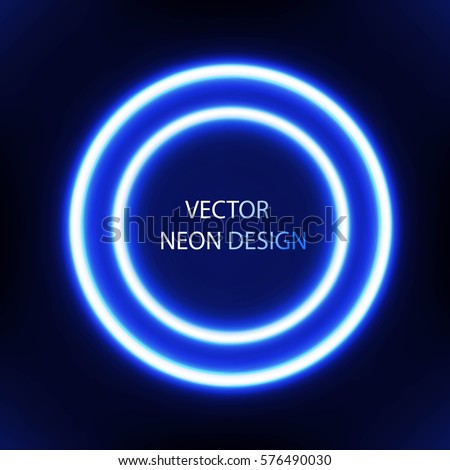 Abstract Technology Circles Vector Background Transparent Ring Eps