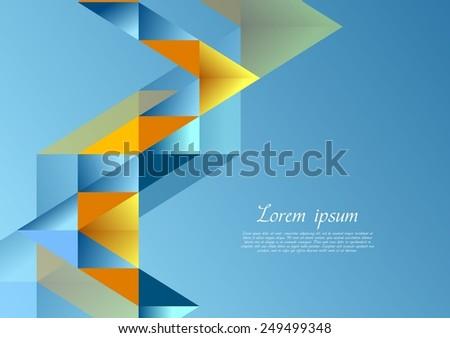 Bright corporate tech background. Vector geometric design - stock vector