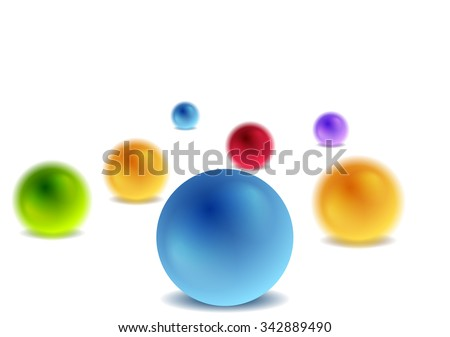 Bright 3d balls on white for infographic design. Vector illustration - stock vector