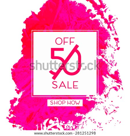 Bright design for your sales, discounts and promotions. Modern style. It can be used for banners, flyer, outdoor printing price tags. - stock vector