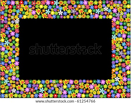 bright floral frame.vector illustration