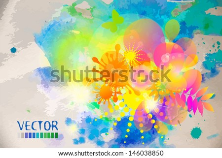 bright flower summer abstraction