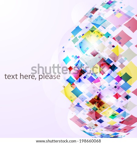 bright frame with colors rhombus. Vector decorate geometric background for your presentation