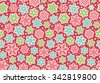 Bright Fun Seamless Christmas Winter Pattern with Snowflakes Isolated on Pink  Background - stock vector