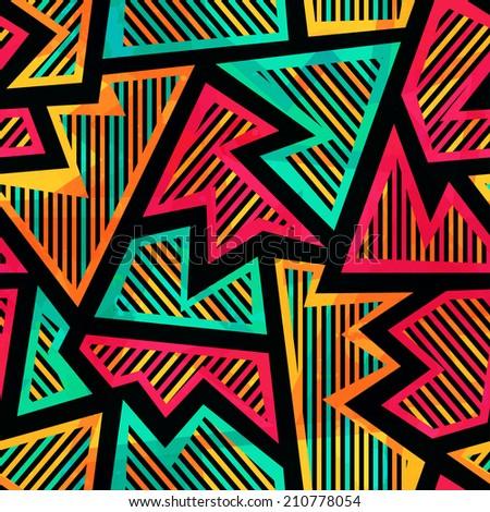 bright geometric seamless pattern - stock vector