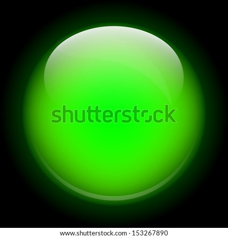 bright green glass sphere