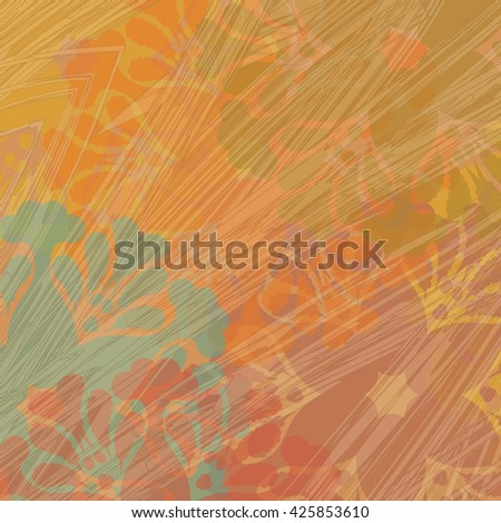 Bright grunge wallpaper with floral blots