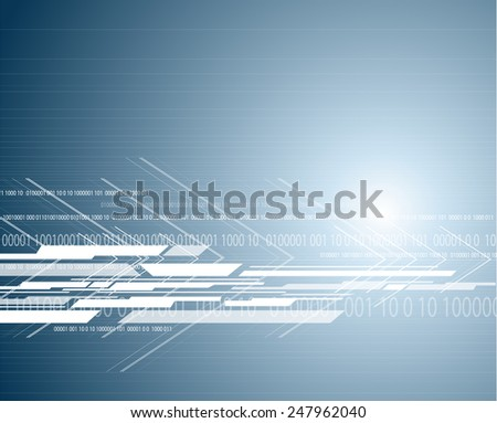 bright hi-tech circuit board background. Vector design  - stock vector